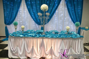 Main table love that draping