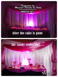 candy and cake table