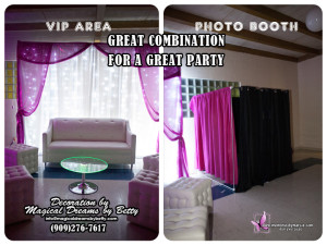 VIP AREA and photo booth
